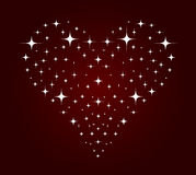 Heart shaped the stars Royalty Free Stock Images