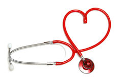 Heart Shaped Stethoscope Royalty Free Stock Photography