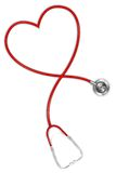 Heart shaped Stethoscope Stock Photo