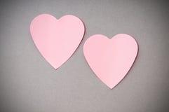 Heart shaped sticky notes Stock Photo