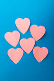 Heart shaped sticky notes Stock Image