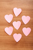 Heart shaped sticky notes Royalty Free Stock Photography