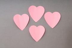 Heart shaped sticky notes Stock Photography