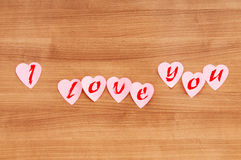 Heart shaped sticky notes Stock Photo