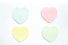 Heart shaped sticky notes Royalty Free Stock Image