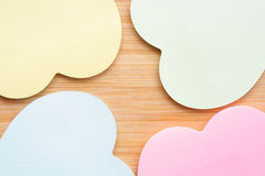Heart shaped sticky notes Stock Photos