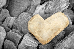 Heart shaped stone Royalty Free Stock Photo