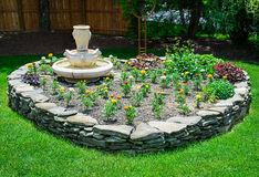 Heart Shaped Stone Garden Stock Photos