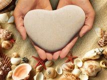 A heart-shaped stone Stock Image