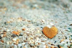 Heart shaped stone Royalty Free Stock Image