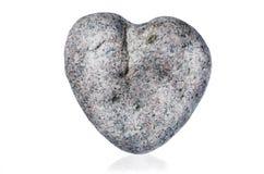 Heart shaped stone on white background Stock Images