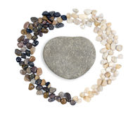 Heart shaped stones Royalty Free Stock Photography