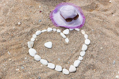 Heart shaped stones Royalty Free Stock Images