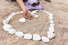 Heart shaped stones Stock Photography