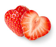 Heart-shaped strawberries Royalty Free Stock Photography