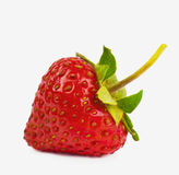 Heart-shaped strawberry Royalty Free Stock Images