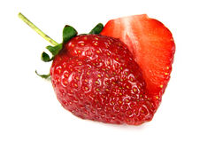 Heart shaped strawberry Stock Photo