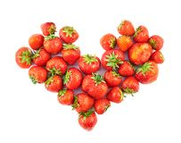 Heart shaped strawberry composition Stock Photos