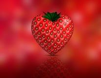 Heart shaped strawberry Royalty Free Stock Photography