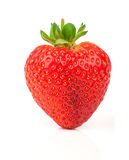 A heart shaped strawberry Stock Photo