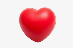Heart-shaped stress toy. A soft and flexible plastic stress toy in the shape of a heart Royalty Free Stock Photography