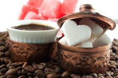 Heart shaped sugar Stock Photography