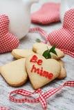 Heart shaped sugar cookies Stock Photo