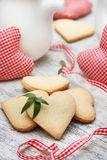 Heart shaped sugar cookies Royalty Free Stock Photos