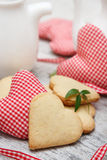 Heart shaped sugar cookies Royalty Free Stock Photography
