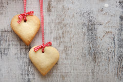 Free Heart Shaped Sugar Cookies Stock Photography - 28655052