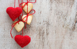 Heart shaped sugar cookies Royalty Free Stock Photos