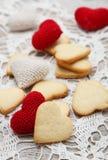 Heart shaped sugar cookies Stock Photos