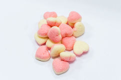 Heart shaped sugar jelly Stock Photography