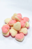 Heart shaped sugar jelly Royalty Free Stock Image