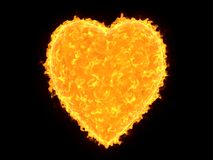 Heart shaped sun Royalty Free Stock Photography