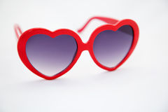Heart shaped sunglasses Stock Images