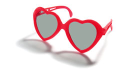 Heart Shaped Sunglasses Royalty Free Stock Photography