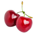 Heart-shaped sweet cherries Royalty Free Stock Images