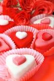 Heart shaped sweets Stock Photo