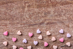 Heart shaped sweets Royalty Free Stock Images