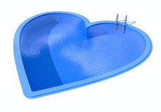 Heart shaped swimming pool Royalty Free Stock Images