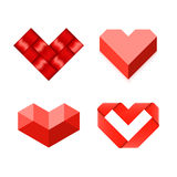 Heart shaped symbols Royalty Free Stock Images