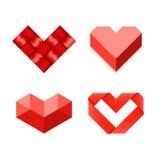 Heart shaped symbols Royalty Free Stock Images