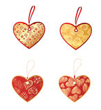 Heart shaped tags Royalty Free Stock Photography