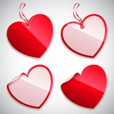 Heart Shaped Tags Royalty Free Stock Photos