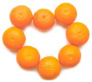 Heart shaped tangerins Stock Images