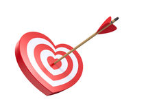 Heart shaped targe Stock Images