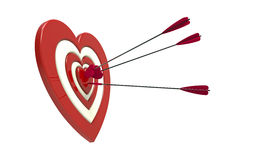 Heart shaped target and arrow Royalty Free Stock Images