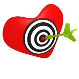 Heart shaped target Royalty Free Stock Photo
