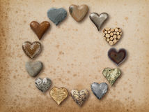 Heart shaped things arranged in circle Royalty Free Stock Images
